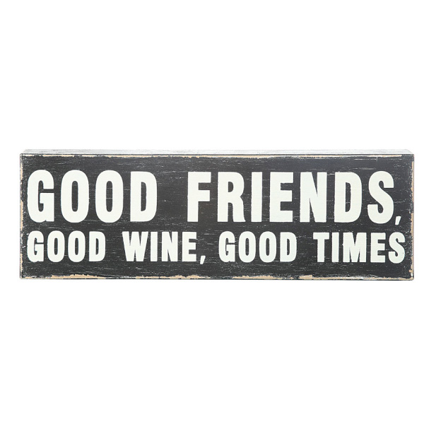 Creative Coop | Good Friends Wall Plaque | Urban Bar Accessories