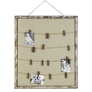 Creative Co-op Fabric Memo/Photo Board Holder