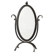 Creative Co-op Bird Mirror Vanity on Stand