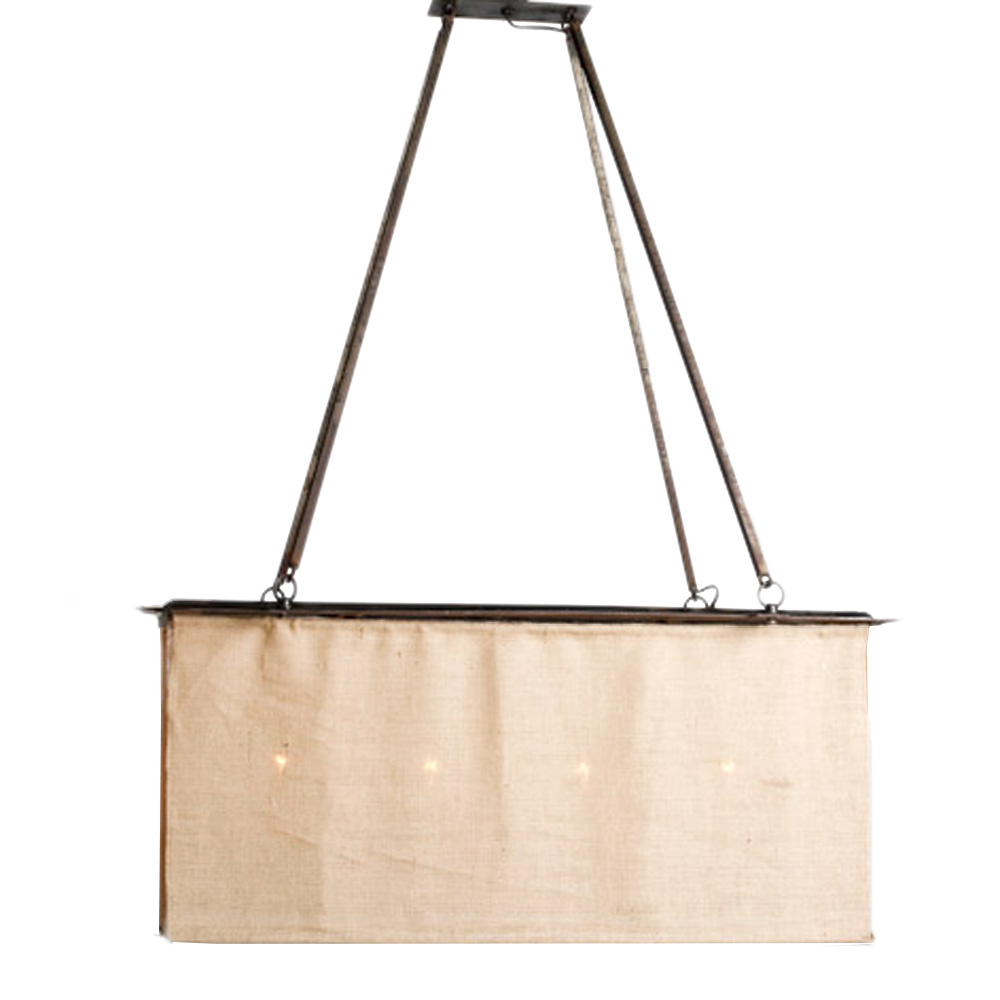 Burlap Box Chandelier Made In Usa Lowcountry Originals