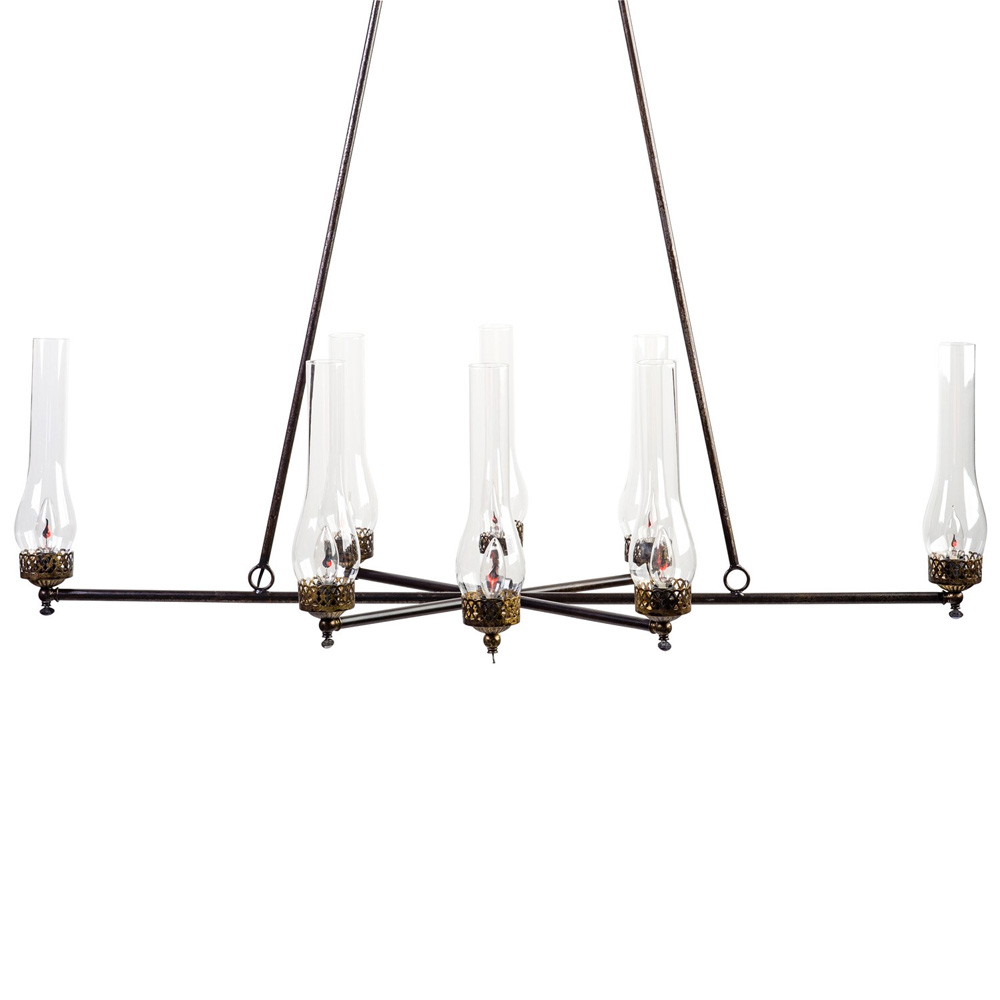 8 Lights Gas Chandelier Made In Usa Lowcountry