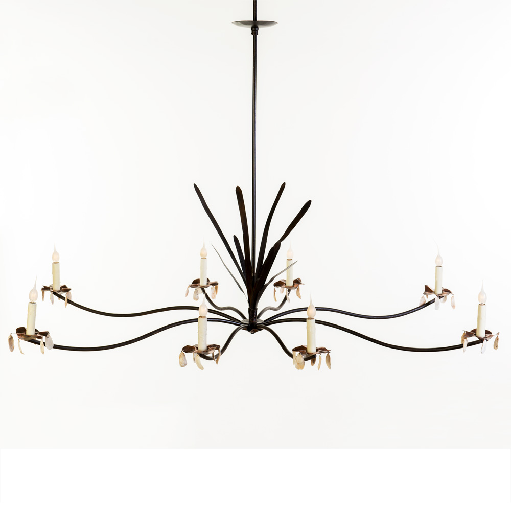 Marsh Grass Shell Chandelier Made In Usa Lowcountry