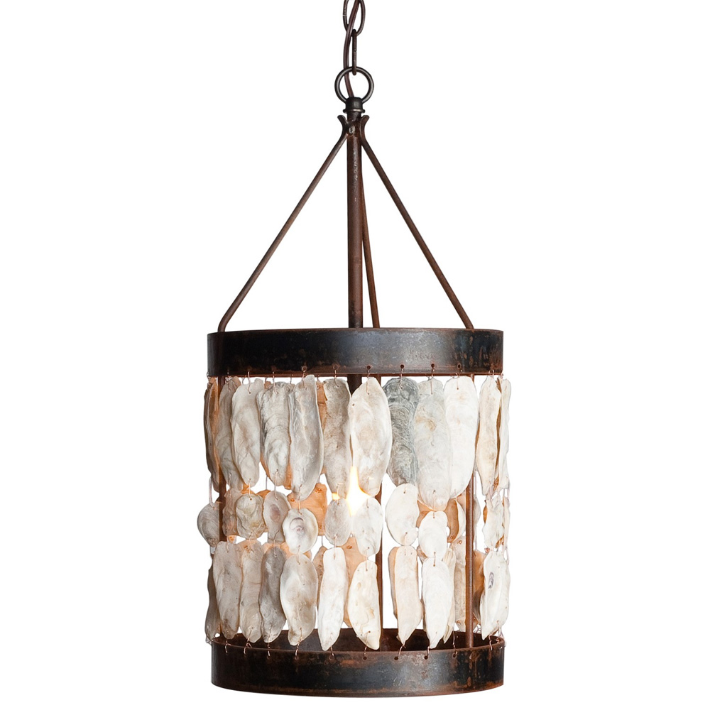 Shell Drum With Bottom Band Chandelier Made In Usa