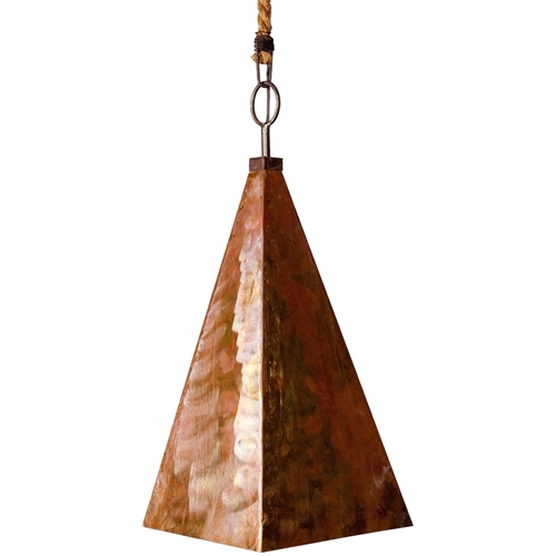 Pyramid pendant copper chandelier made in usa for Lowcountry lighting