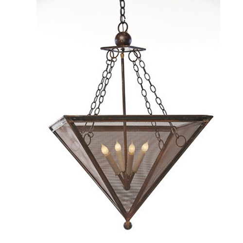 inverted pyramid chandelier made in usa lowcountry