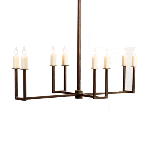 Enlongated U Arm Chandelier Made In Usa Lowcountry