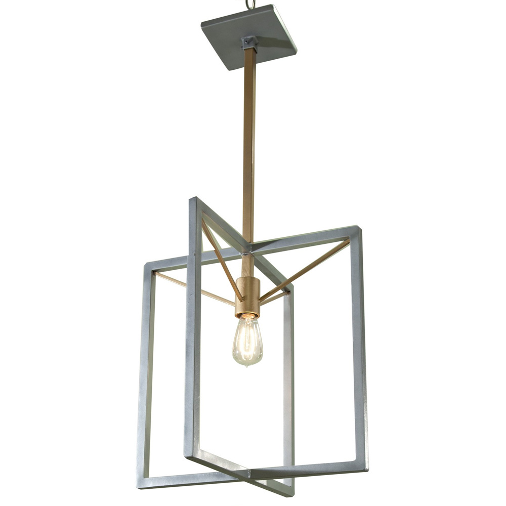 Edison Bulb Double Box Chandelier Made In Usa