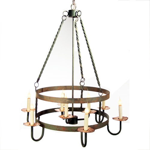Twisted Metal Chandelier Made In Usa Lowcountry