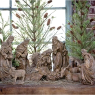 Park Hill Collections Natural Nativity Set : Holiday Decorating