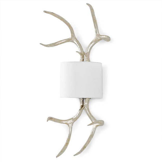 Regina Andrew Lighting Silver Leaf Antler Sconce 55-41-0043