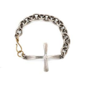 Vintage Inspired Bracelet - Coptic Cross Sterling