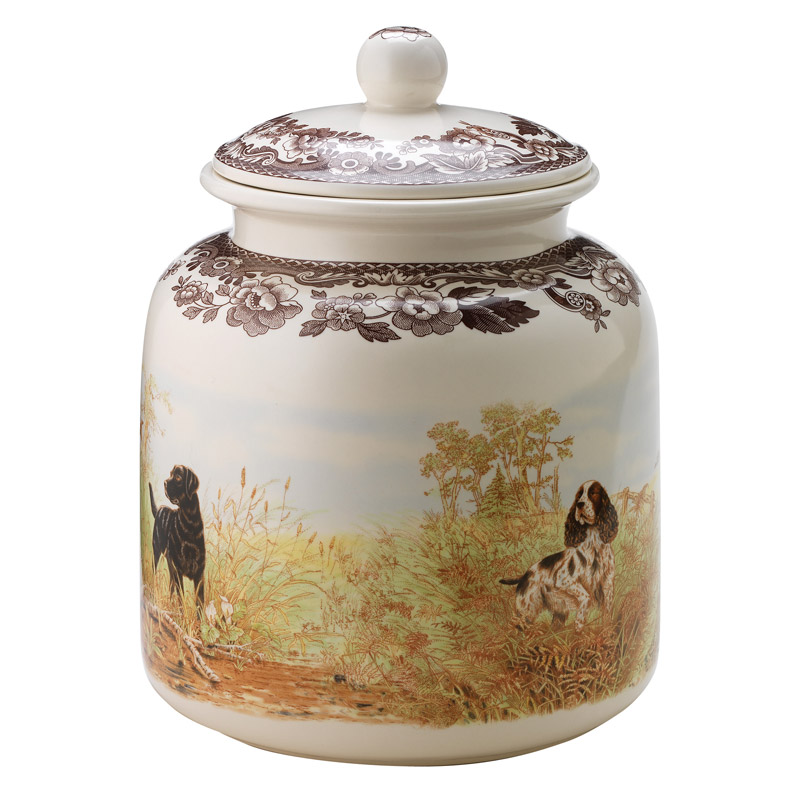 Dog Treat Canister from Woodland Hunting Dogs Collection