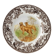 Golden Retriever Dinner Plate from Woodland Hunting Dogs Collection