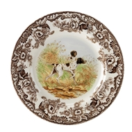 Pointer Dinner Plate from Woodland Hunting Dogs Collection