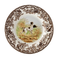 Pointer Salad Plate from Woodland Hunting Dogs Collection