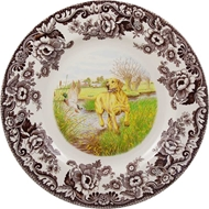 Yellow Lab Dinner Plate from Woodland Hunting Dogs Collection