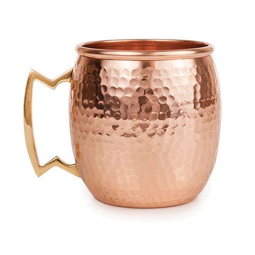 Abigails Elements Copper Hammered Moscow Mule Mug Set Of 4
