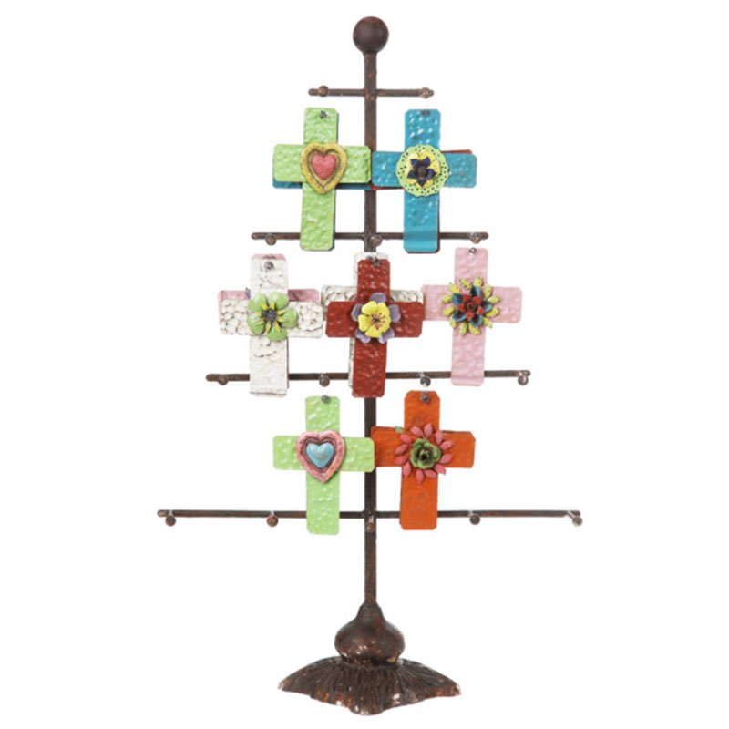 Creative Co-op Iron Tree Jewelry Ornament Holder
