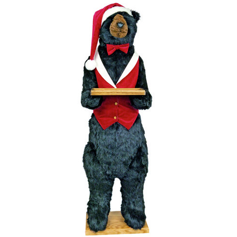 Ditz Designs - Christmas Butler Bear with and witout smile