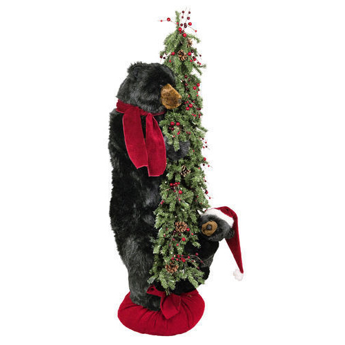 Ditz Designs - Christmas Offspring Tree Bear Black - Christmas Tree 70175