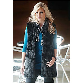Donna Salyers - Fabulous Furs - Black Mink Every-Wear Vest