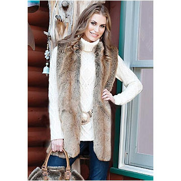 Donna Salyers - Fabulous Furs - Coyote Every-Wear Vest