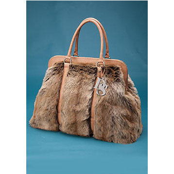 Donna Salyers Fabulous Furs Coyote Faux Fur Weekend Bag