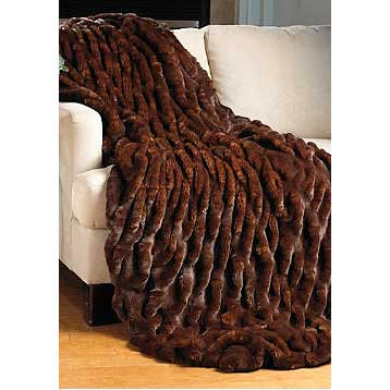 Donna Salyers Fabulous Furs Limited Edition Mahogany Faux Fur Throw