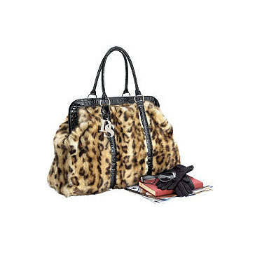 Donna Salyers Fabulous Furs Leopard Faux Fur Weekend Bag