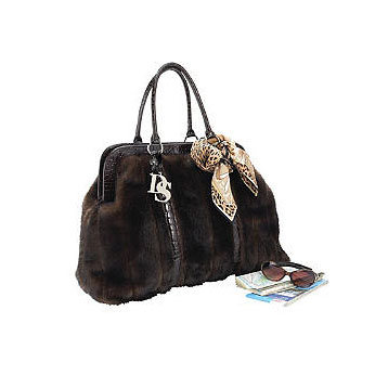 Donna Salyers Fabulous Furs Sable Faux Fur Weekend Bag