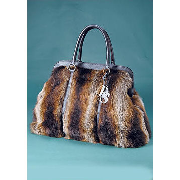 Donna Salyers Fabulous Furs Tanuki Faux Fur Weekend Bag