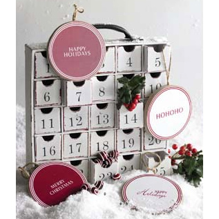 Advent Calendar Cabinet - Christmas Holiday Decorations