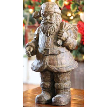 Park Hill Collections : Jolly Santa Statue : Holiday Decorating