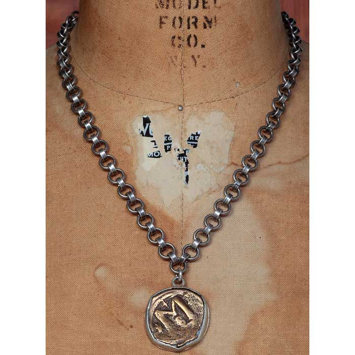 Vintage Medal - Byzantite Empire Coin Necklace - Shannon Koszyk Jewelry