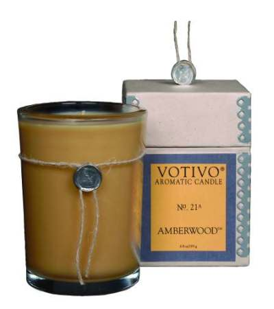 Votivo Candle - Amberwood Candle - Aromatic Scented Candle