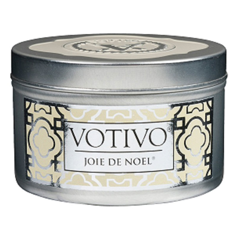 Votivo Candle Company Joie de Noel Holiday Scented Candle Tin
