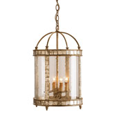 Currey Light Fixtures - 9239 Corsica Lantern Large - Mirrored Lanterns
