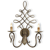 Currey Light Fixtures - 5006 Regiment Wall Sconce - Finished Iron Wall Sconces