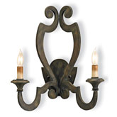 Currey Light Fixtures - 5012 Retrospect Wall Sconce - Iron Wall Sconce
