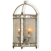 Currey Light Fixtures - 5032 Corsica Wall Sconce - Mirrored Wall Sconce