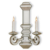 Currey Light Fixtures - 5042 Domani Wall Sconce - Mirrored Wall Sconce