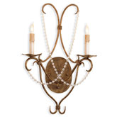 Currey Light Fixtures - 5880 Crystal Light Wall Sconce - Iron & Crystal Wall Sconce