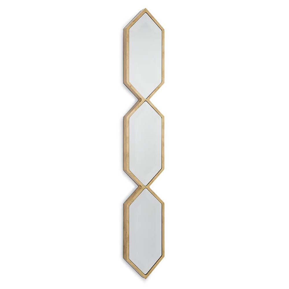 Regina Andrew Wall Decor Triple Diamond Panel Mirror Gold Leaf