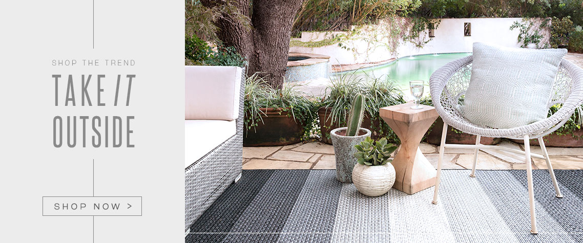 Outdoor Rugs & Faux Bois Garden Benches | Home Decor Garden Trend 2017