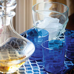 Abigails Glassware & Dining | Colored Glass Sets | Bubble Glasses