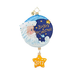 Christopher Radko Baby First Christmas Ornaments