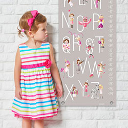 Personalized Growth Charts | Kids Room Wall Decor