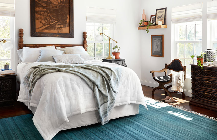 For Your Guest Room A Folded Throw Makes The Feel More Inviting With Tels Like Magnolia Home Anna Blanket Is Great Choice To Add