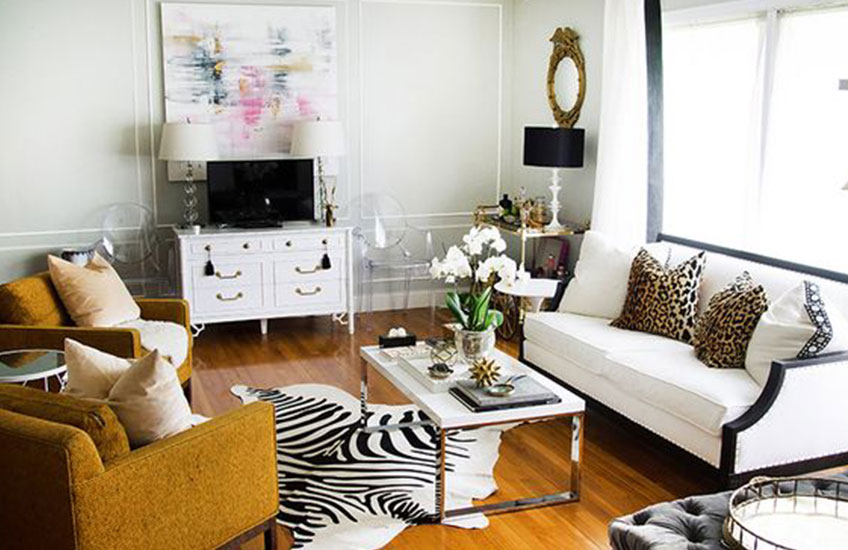 A History Of Animal Print In Interior Design