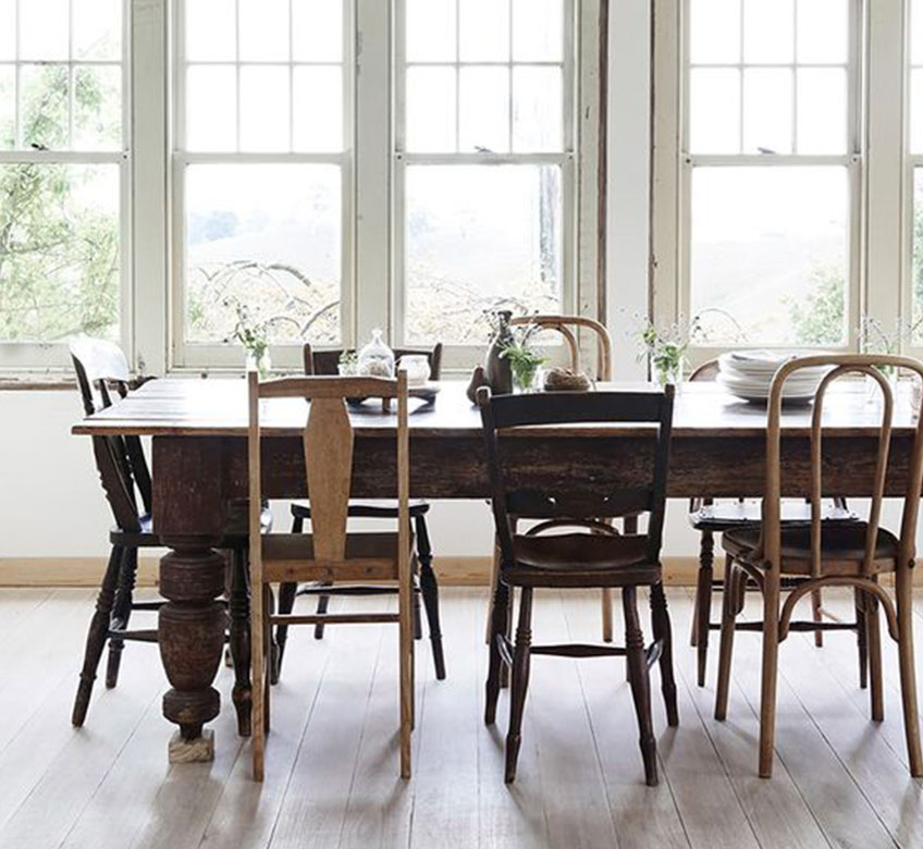 Mismatched Dining Chairs | PLD Staff Favorites